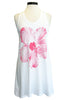 sundry hibiscus tank dress white