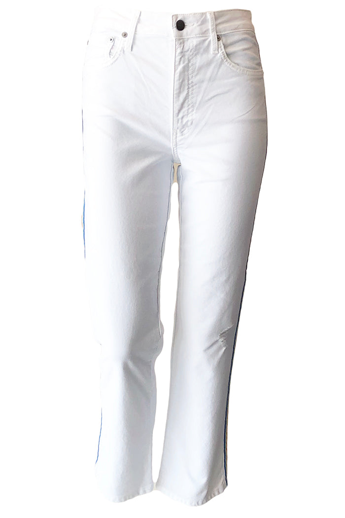 sundry high rise relaxed straight leg jeans white rainbow