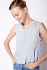 sundry keep it simple peplum tank