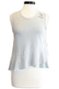 sundry keep it simple peplum tank pigment sage