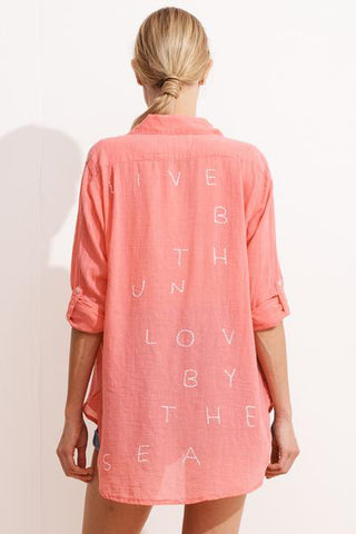 sundry live by the sun oversized shirt
