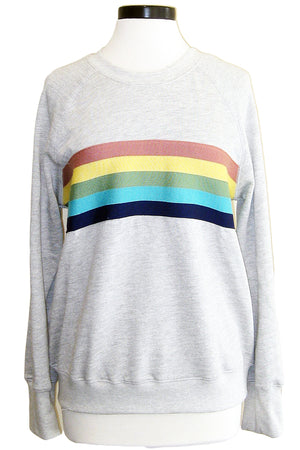 sundry rainbow raglan heather grey