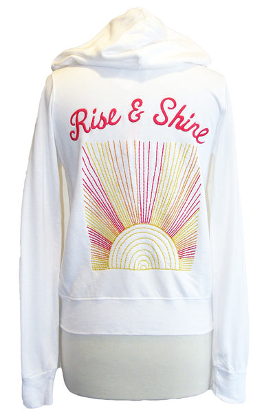 sundry rise and shine hoodie white