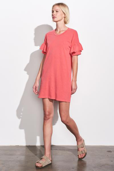 sundry ruffle sleeve dress