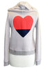 sundry split heart zip hoodie heather azalea