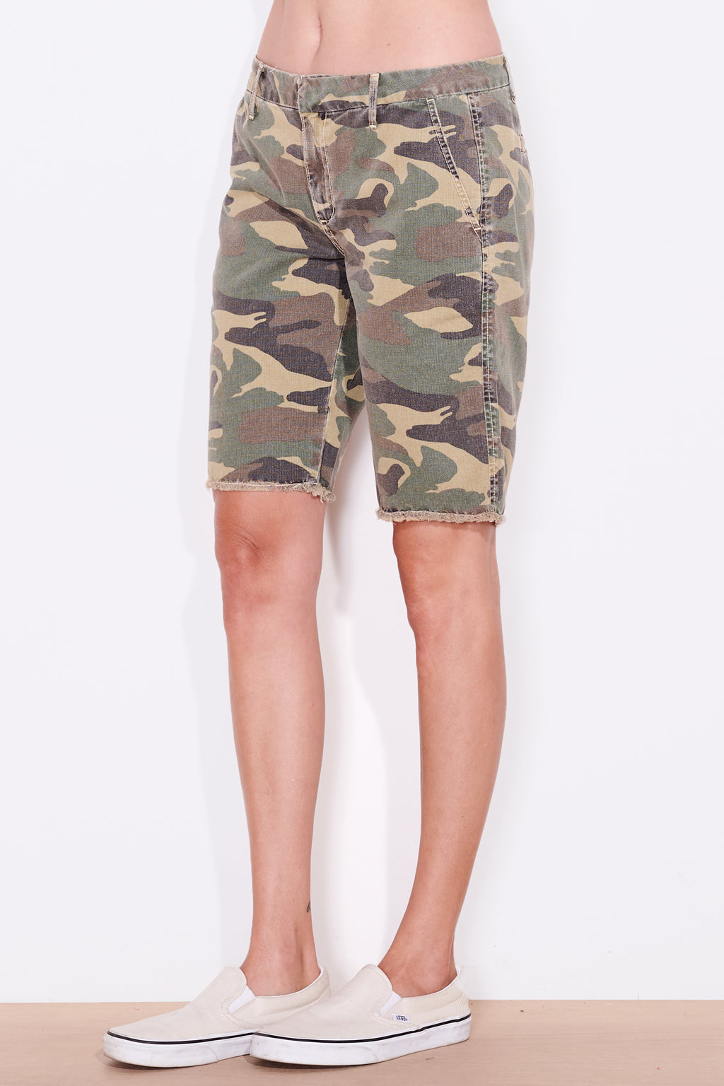 sundry camo bermuda shorts super bleach