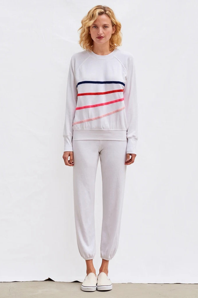 sundry diagonal stripes pullover