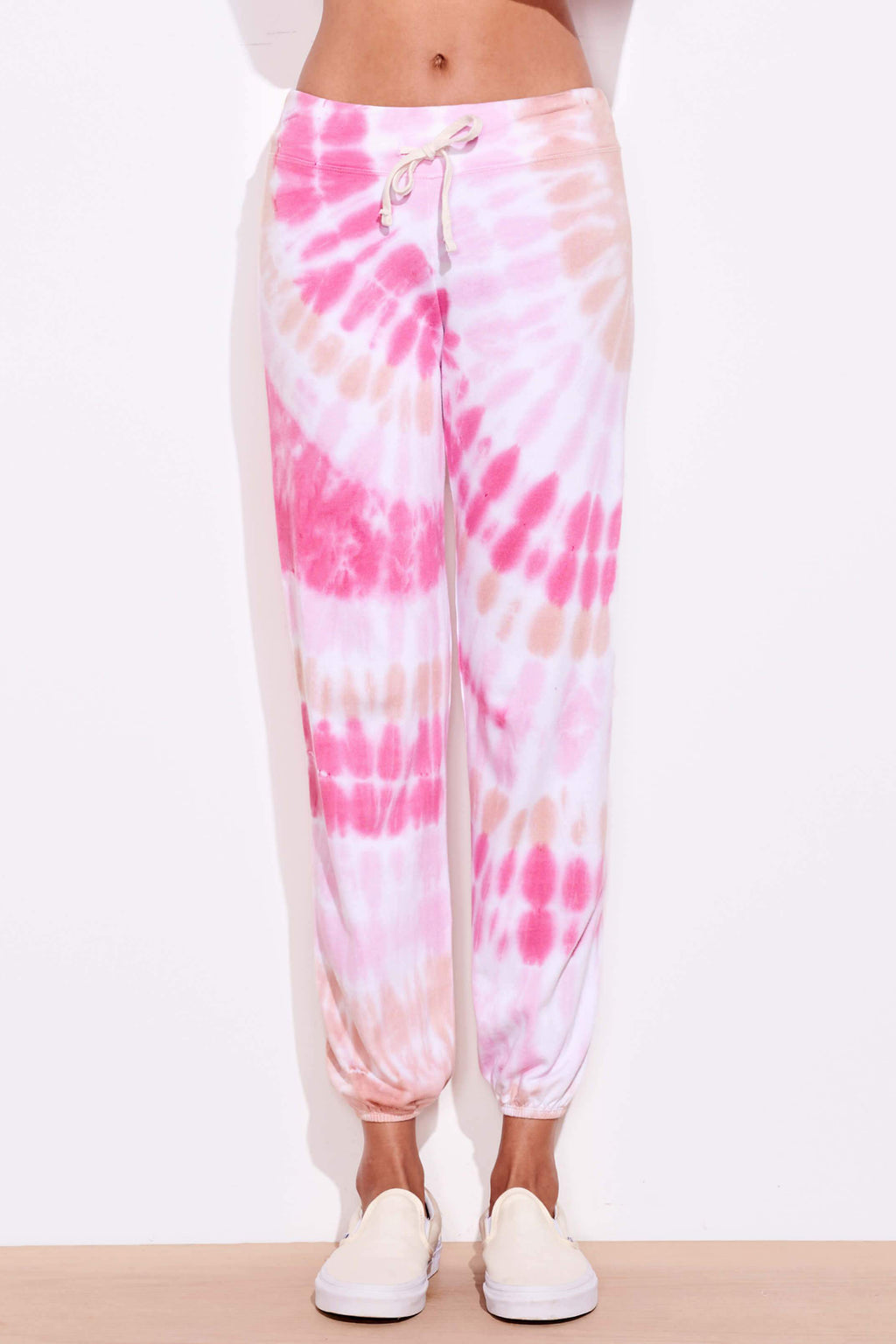 sundry tie dye basic sweatpants adobe hibiscus
