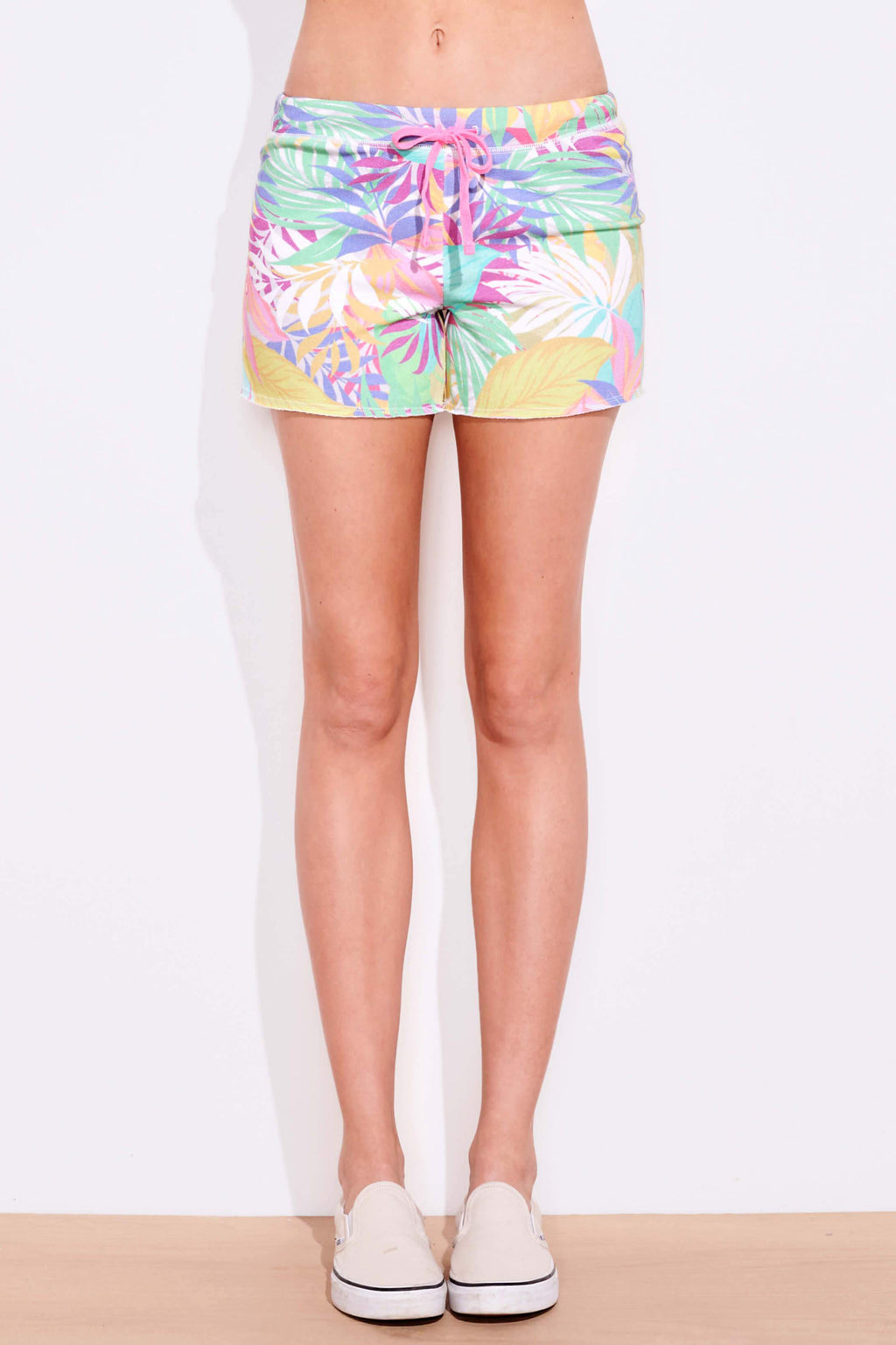 sundry tropical cutoff shorts