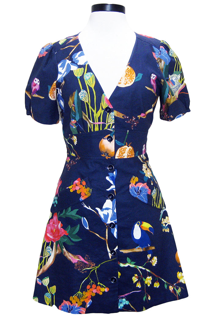 tanya taylor blanca dress jungle navy