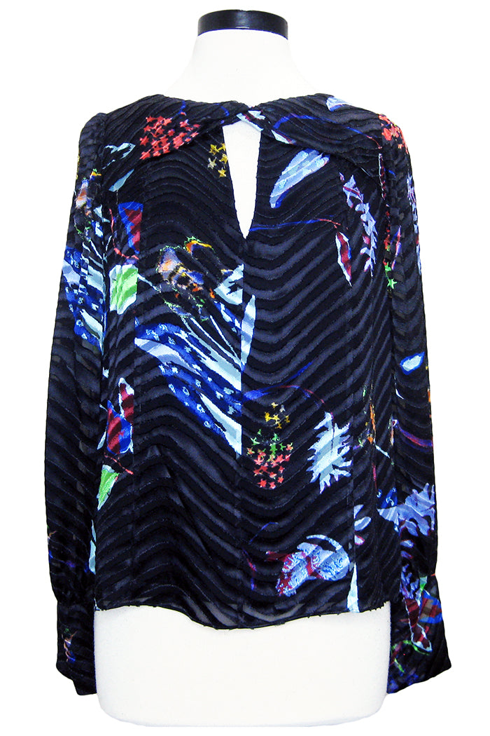 tanya taylor hayden top black surreal floral