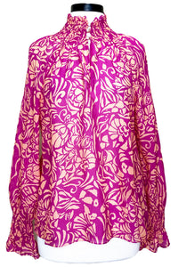 tanya taylor alexis top festival fuchsia floral