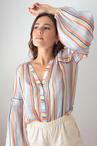 tanya taylor illa top summer stripe