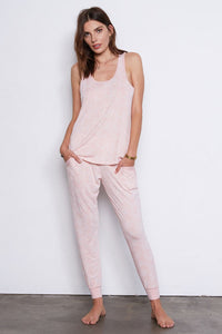 tart ivy burnout pant set blush snake