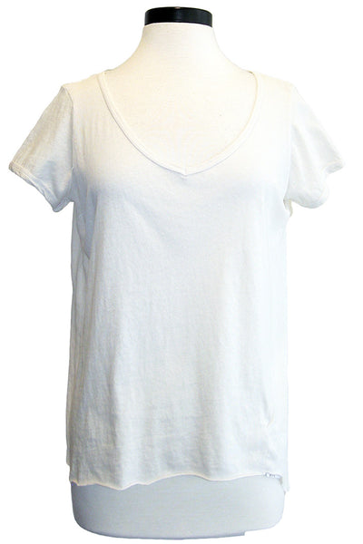 tee lab twisted seam v-neck tee vintage white