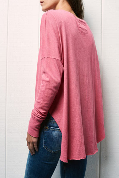 tee lab side split long sleeve tee