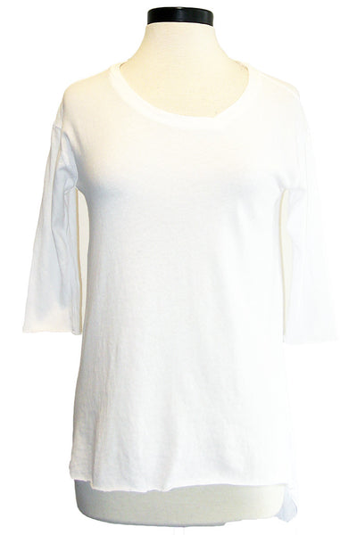 tee lab side v-neck whiteout