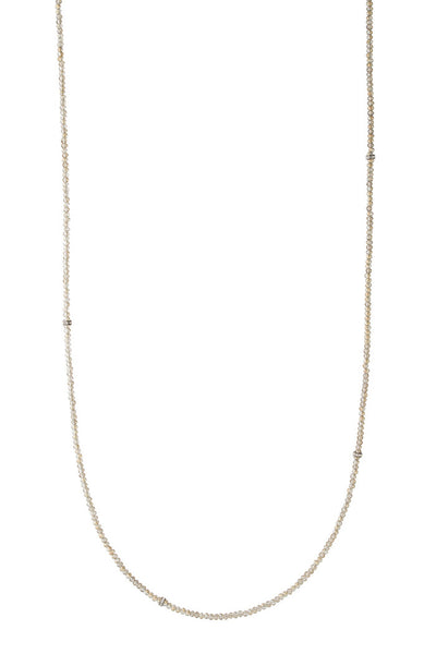 theia champagne swarovski crystal long necklace with cz spacers