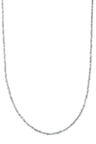 theia hematite swarovski crystal long necklace