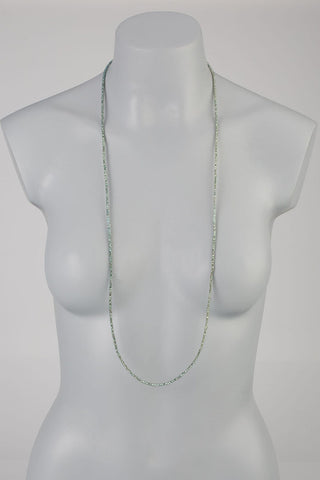 theia green swarovski crystal long necklace