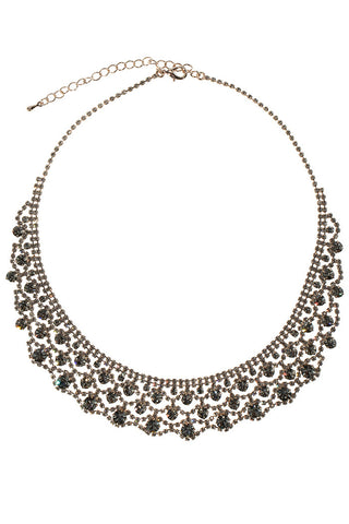 theia vintage crochet bib necklace