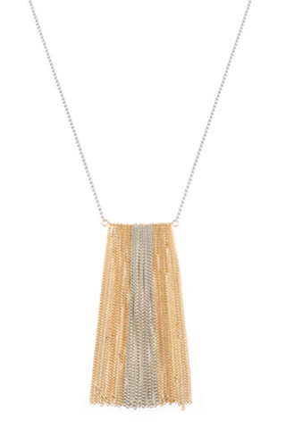 theia ultra chic chain bar necklace