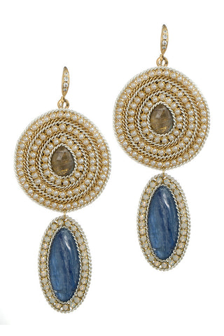 theia labradorite and lapis earrings