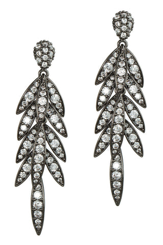 theia laurel leaf earrings