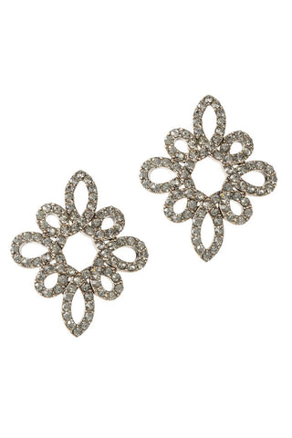 theia black diamond moroccan stud earrings