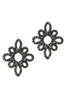 theia jet black moroccan stud earrings