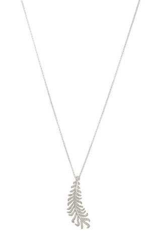 theia laurel leaf necklace