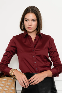 the shirt essentials icon shirt burgundy