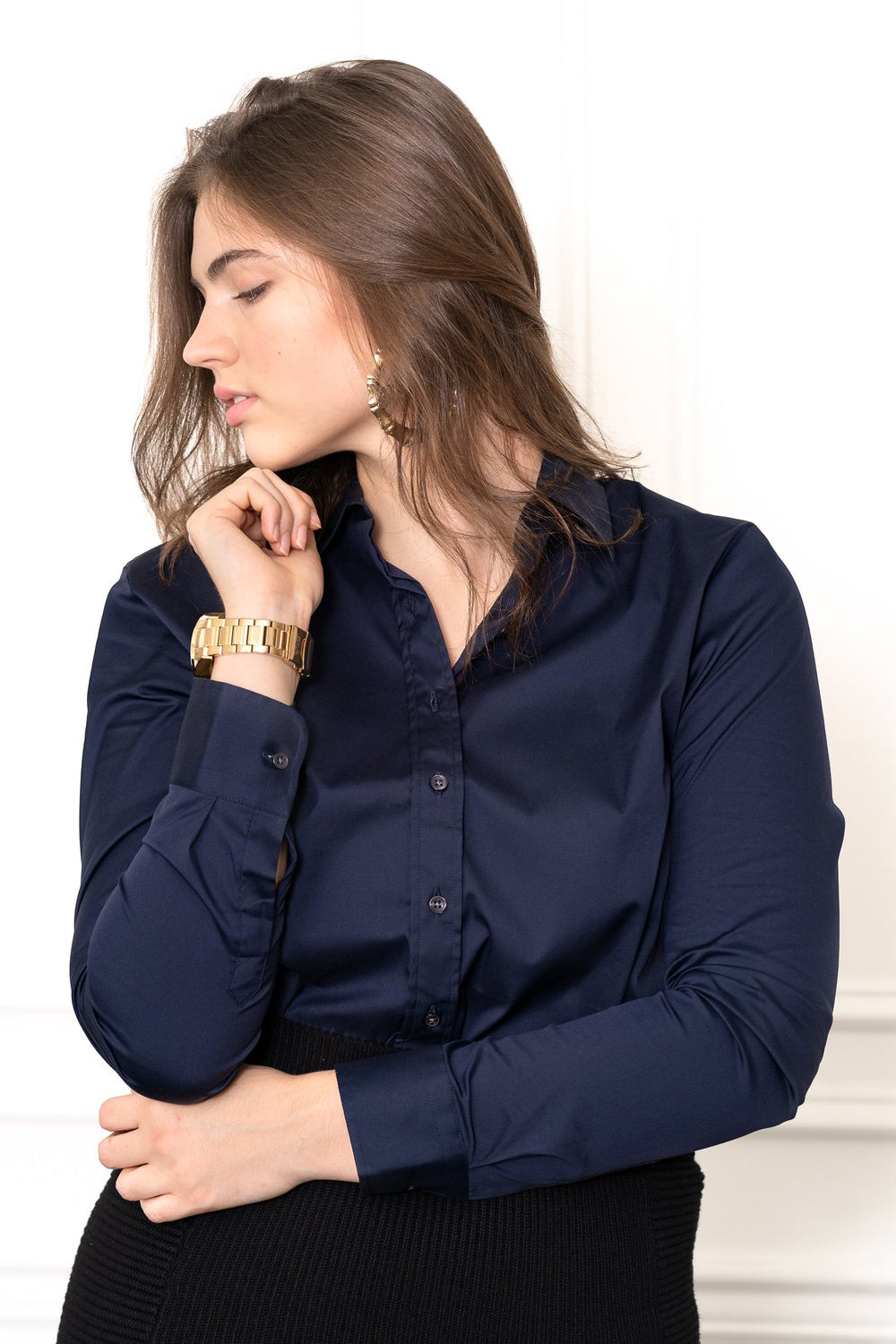the shirt essentials icon shirt dark navy