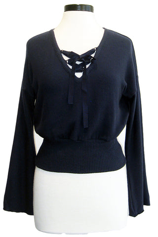 three dots bell sleeve crop top