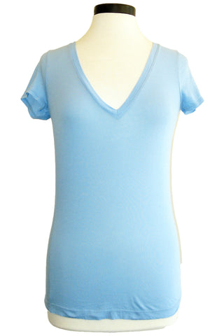 three dots denise short sleeve deep v (more colors available)