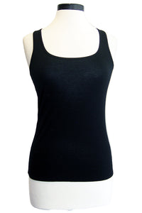 three dots vintage jersey scoop neck tank black