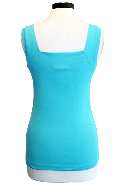 three dots square neck tank