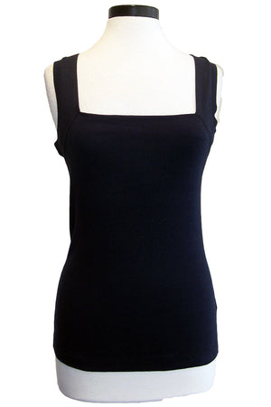 three dots square neck tank night iris