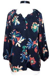 tucker the classic blouse black spotted lily