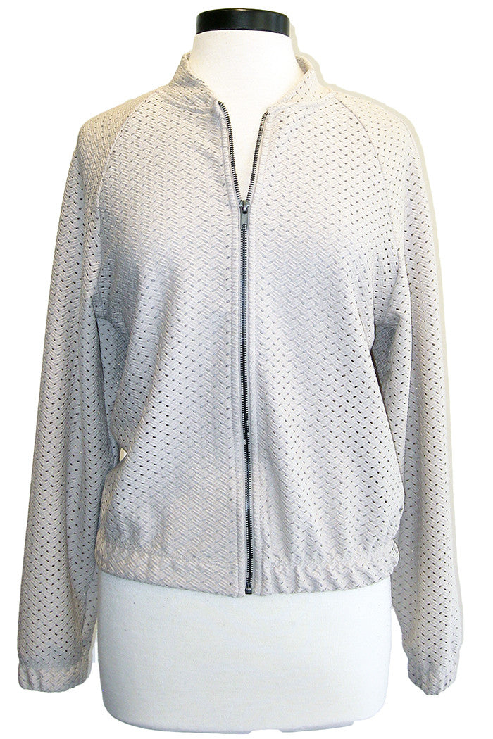 twenty knit baseball jacket taupe