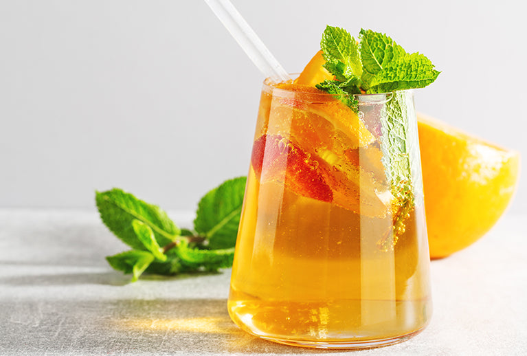 How To Make Iced Tea: A Mouth-Watering Lemon Balm And Orange Recipe That Will Leave You Refreshed, Relaxed & Ready For More.