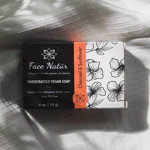 Charcoal & Sunflower Handcrafted Vegan Soap