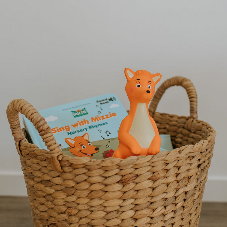 Mizzie The Kangaroo Gift Set with sound book and teething toy