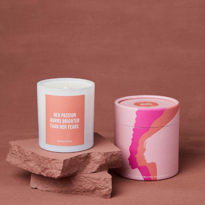 pink decorative candle