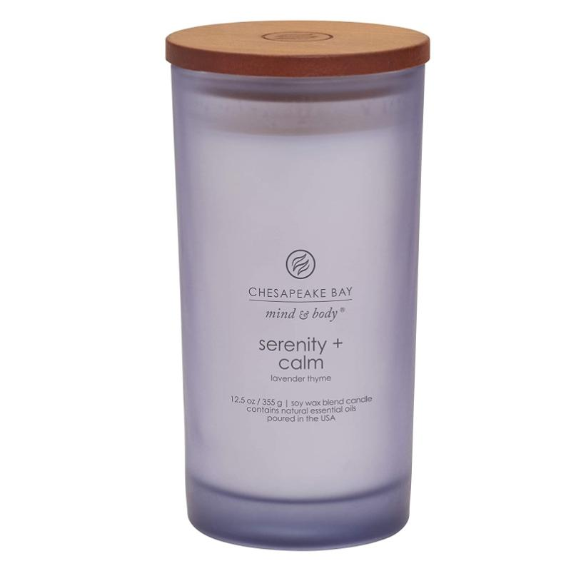 Mind & Body Scented Candle, Serenity + Calm (Lavender Thyme), Large - [Yes She May]