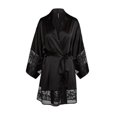 black robe with lace detail