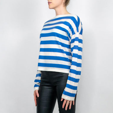 Boxy Wool Knit Striped Sweater