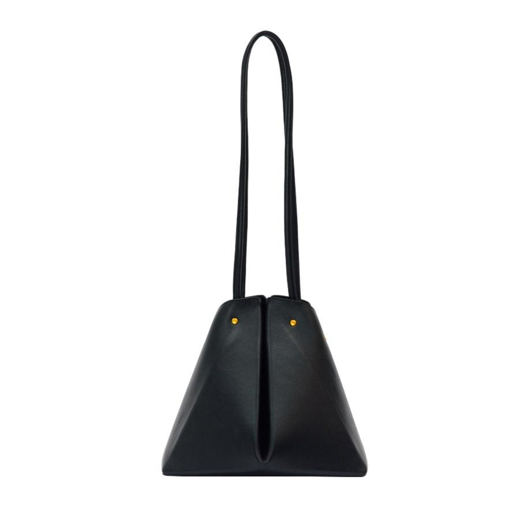 Pyramid - Leather Bag, Black