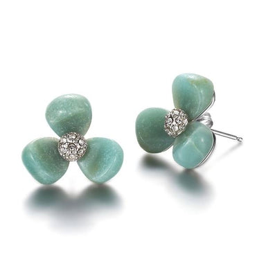 La Pensee Green Earrings - [Yes She May]