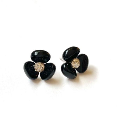 La Pensee Black Earrings - [Yes She May]